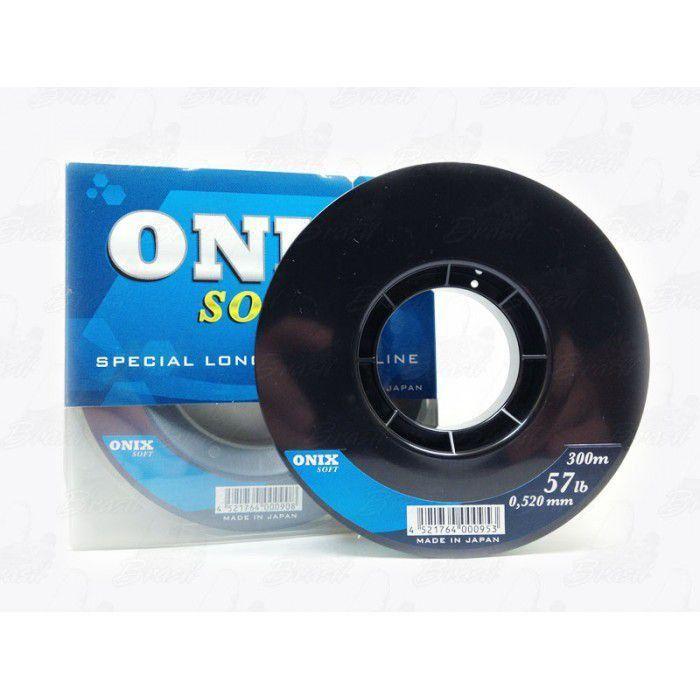 Linha Fastline Onix Soft 0,520mm 57lb Monofilamento 300m
