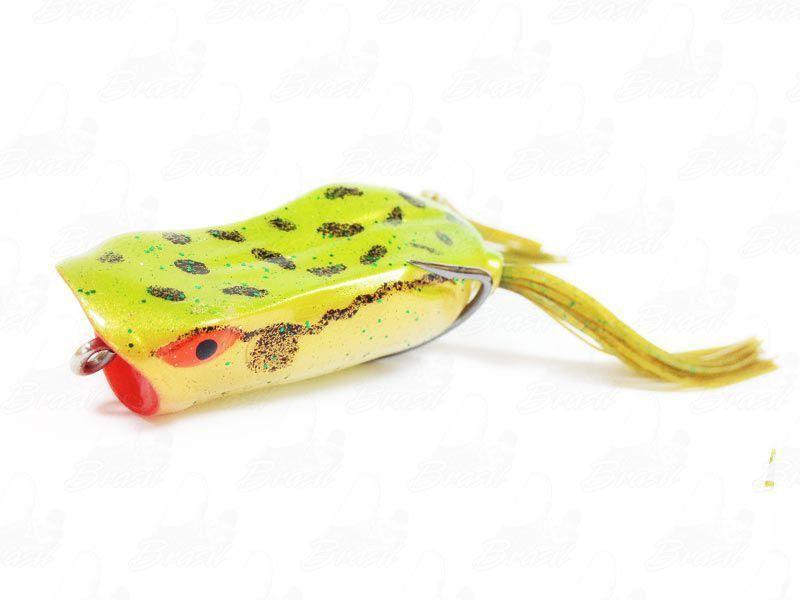 Isca Marine Sports Art Popper Frog Sapinho Cor 179 Verde Dourado