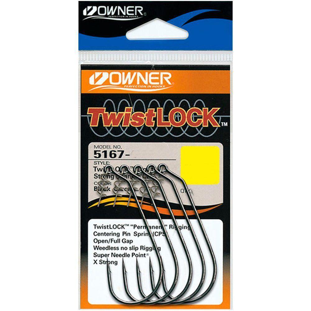 Anzol Owner Twistlock Light Unweighted Nº1/0 5un