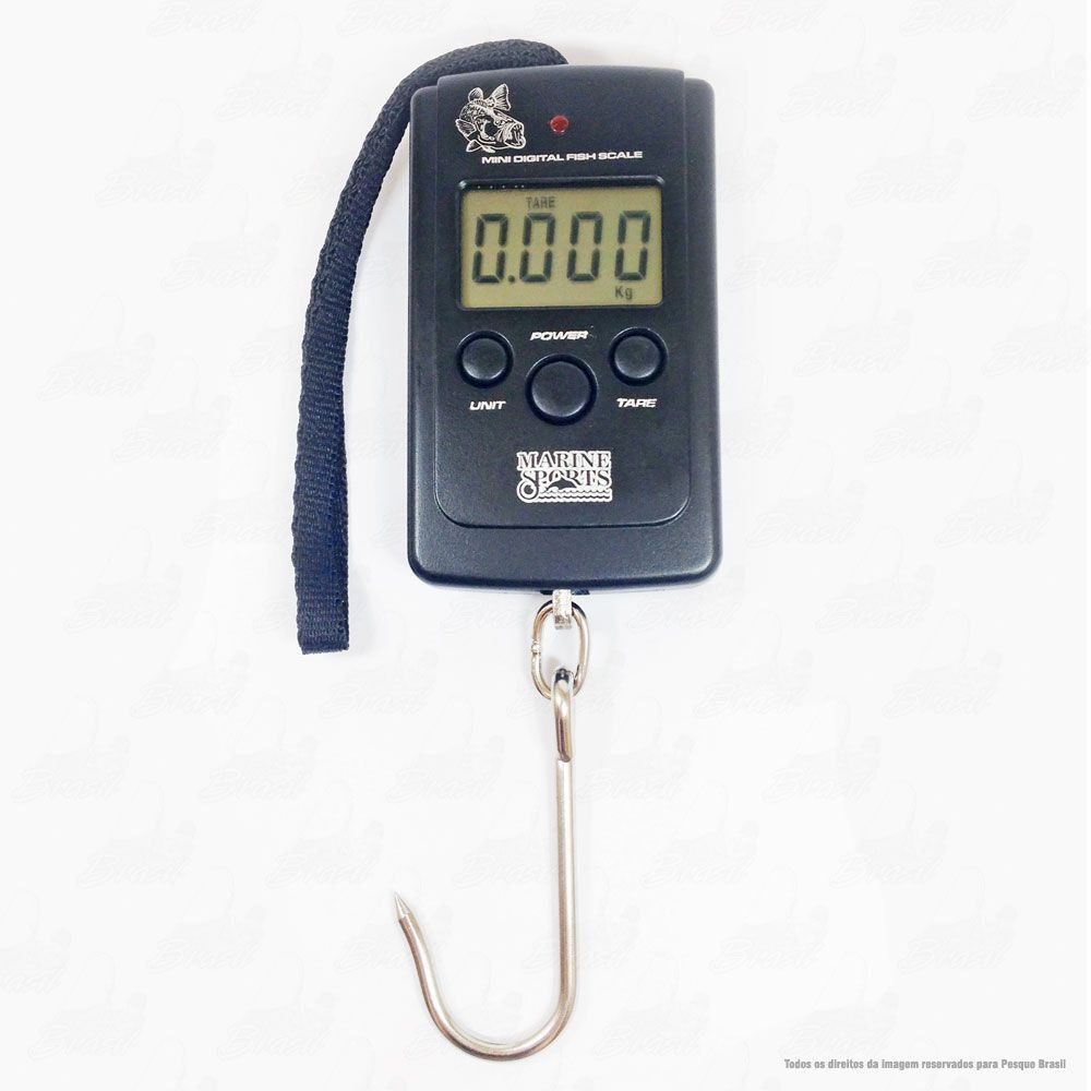 Balança Digital Marine Sports Mini MS-DS03D Fish Scale 40Kg 88Lbs e Termometro