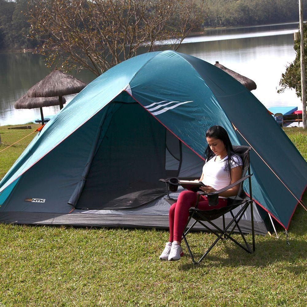 Barraca de Camping Nautika Cherokee GT 5/6 para 5/6 Pessoas com Sobreteto