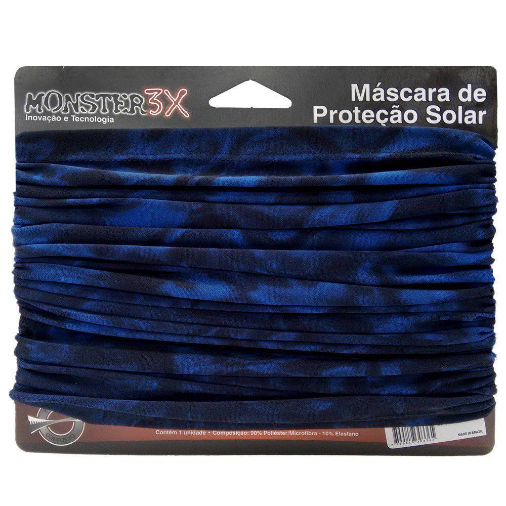 Máscara de Proteção Solar Monster 3X Cor Water Camo Blue com Filtro UV