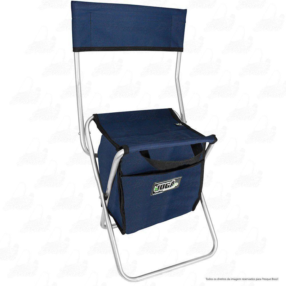 Cadeira Com Bolsa 13 L Térmica Dobrável para Pesca e Camping Jogá Cor Azul em Aço Suporta até 105 kg