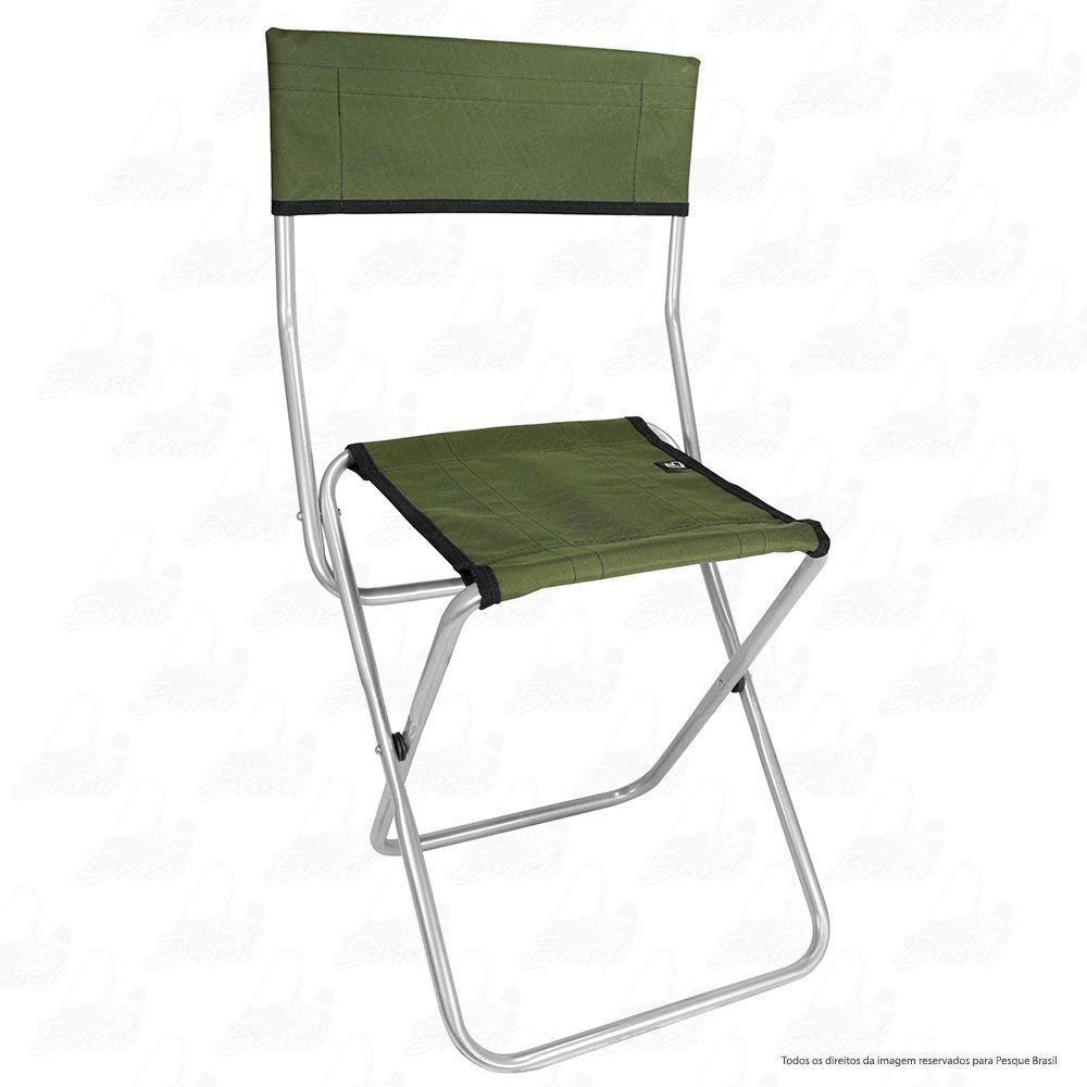 Cadeira Dobrável para Pesca e Camping Jogá Cor Verde em Aço Suporta até 105 kg