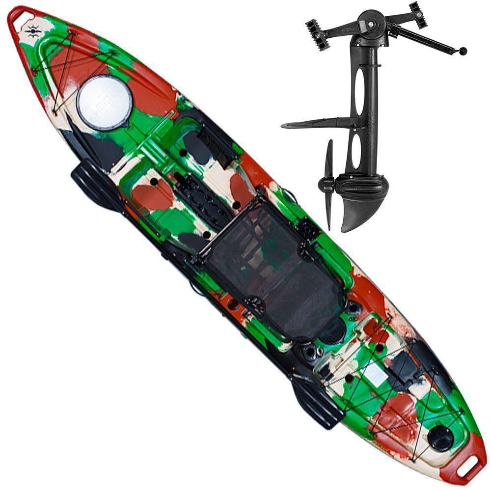 Caiaque de Pesca com Pedal Hook Milha Naútica Completo