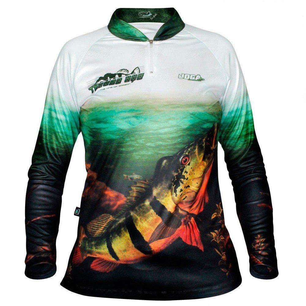 Camiseta de Pesca Jogá Feminina Tucunaré Açu Proteção UV