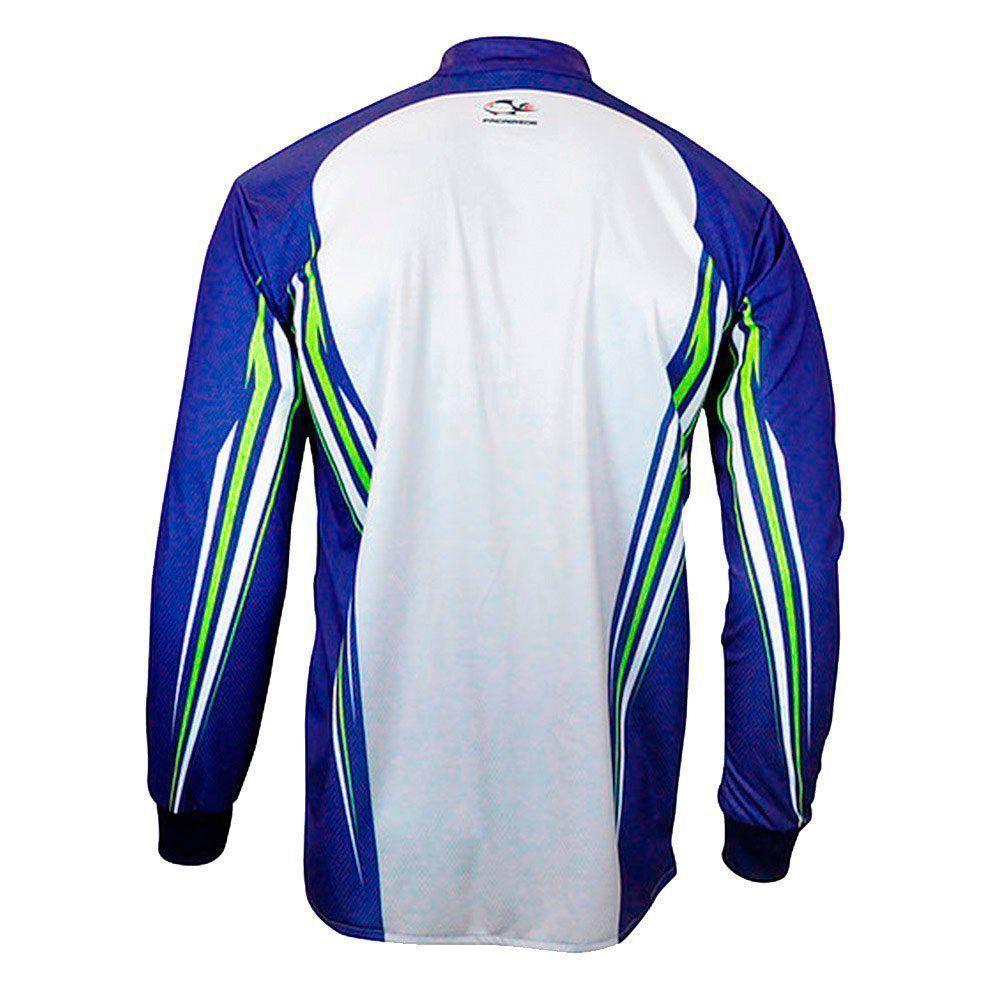 Camiseta de Pesca Extreme Dry Combat S Blue Faca na Rede