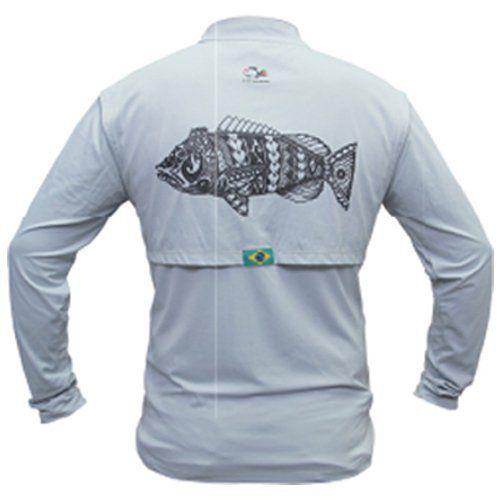 Camiseta de Pesca Maori Tucunaré Faca na Rede Extreme Dry 2 com Fator de Proteção Solar UV 50 Tamanho P