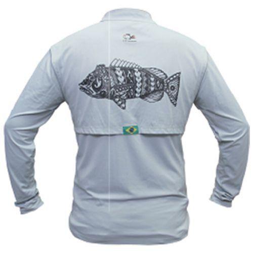 Camiseta de Pesca Maori Tucunaré Faca na Rede Extreme Dry 2 com Fator de Proteção Solar UV 50 Tamanho XG