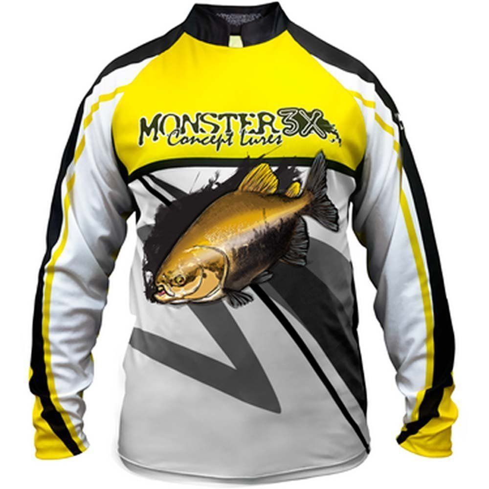 Camiseta de Pesca Monster 3X New Fish 02 Tambaqui com Proteção Solar UV