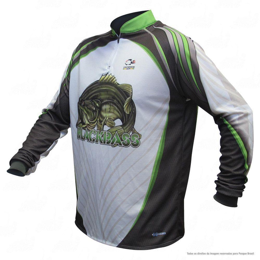 Camiseta de Pesca Shirts Black Bass Branca Faca na Rede Extreme Dry 2 com Fator de Proteção Solar UV 50 Tamanho XG