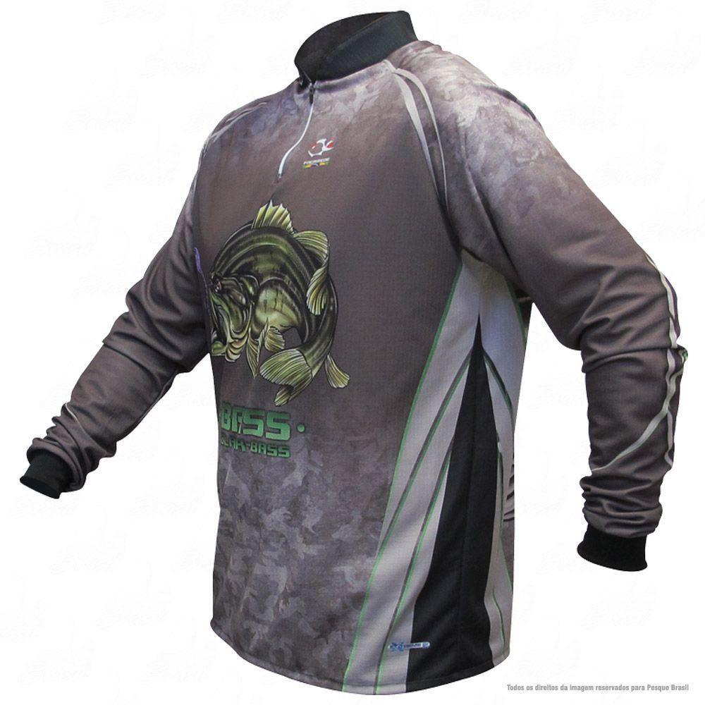 Camiseta de Pesca Shirts Black Bass Escura Faca na Rede Extreme Dry 2 com Fator de Proteção Solar UV 50 Tamanho PP