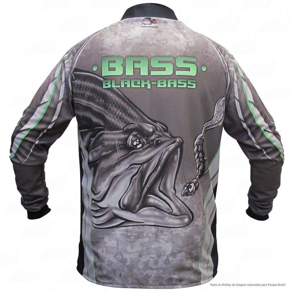 Camiseta de Pesca Shirts Black Bass Escura Faca na Rede Extreme Dry 2 com Fator de Proteção Solar UV 50 Tamanho GG