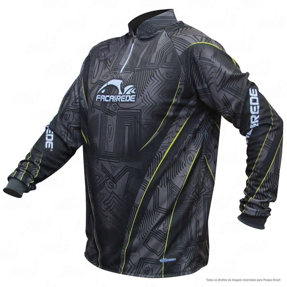 Camiseta de Pesca Shirts Faca na Rede com Texturas Extreme Dry 2 com Fator de Proteção Solar UV 50 Tamanho P