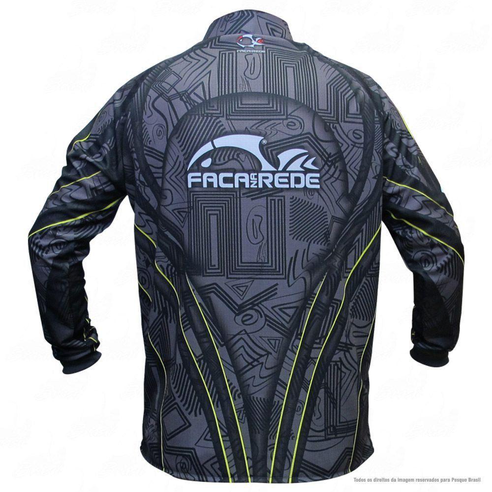 Camiseta de Pesca Shirts Faca na Rede com Texturas Extreme Dry 2 com Fator de Proteção Solar UV 50 Tamanho G