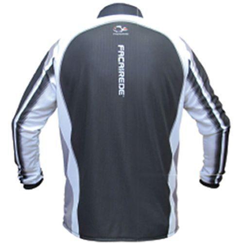 Camiseta de Pesca Shirts Faca na Rede Preta Extreme Dry 2 com Fator de Proteção Solar UV 50 Tamanho PP