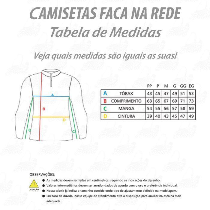 Camiseta de Pesca Shirts Preta Feminina Faca na Rede Extreme Dry 2 com Fator de Proteção Solar UV 50 Tamanho G