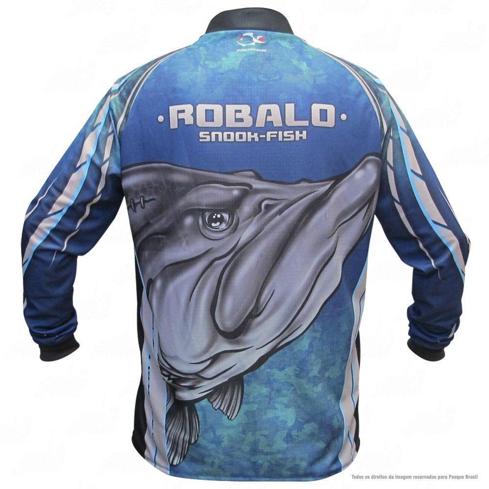 Camiseta de Pesca Shirts Robalo Faca na Rede Extreme Dry 2 com Fator de Proteção Solar UV 50 Tamanho GG