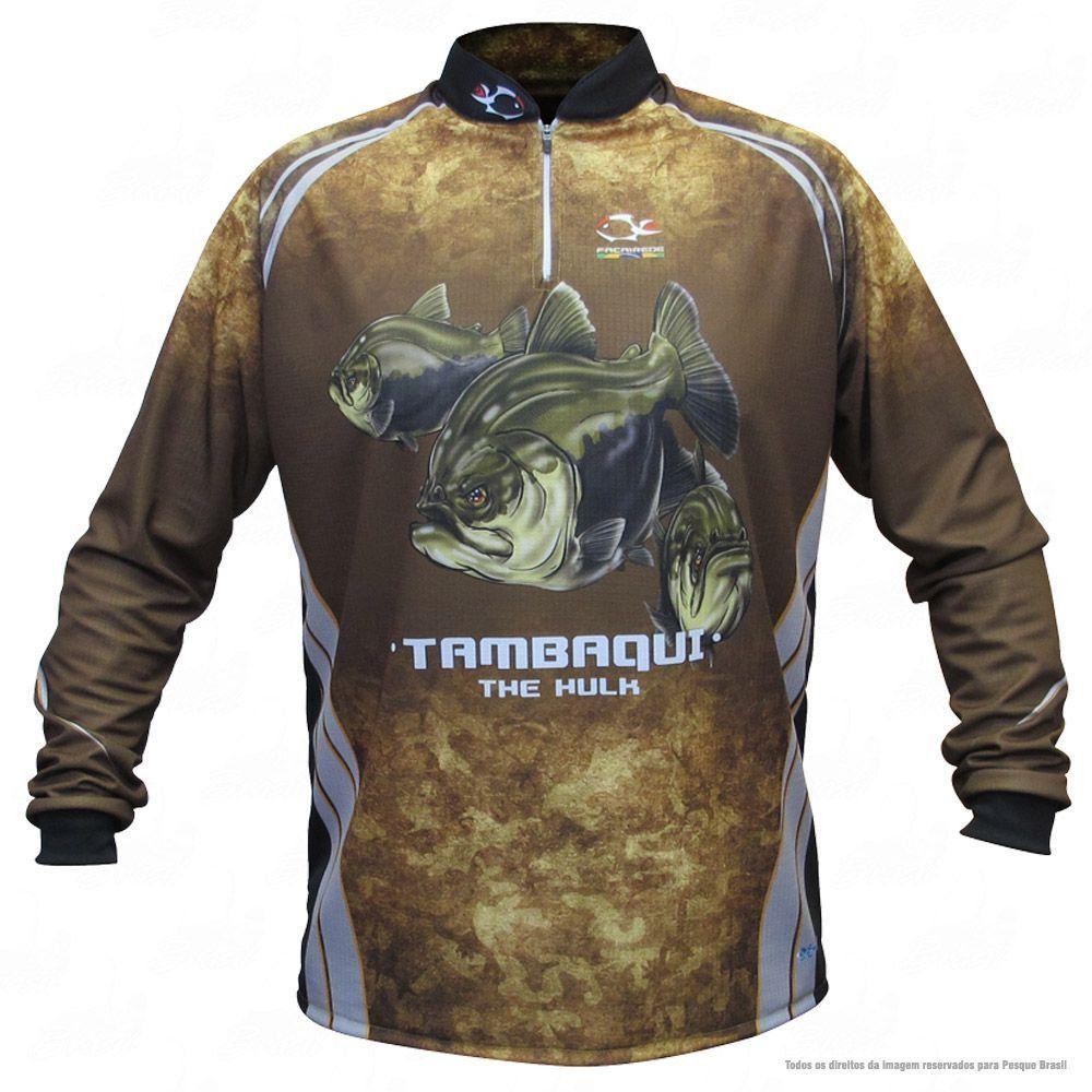 Camiseta de Pesca Shirts Tambaqui Faca na Rede Extreme Dry 2 com Fator de Proteção Solar UV 50 Tamanho P