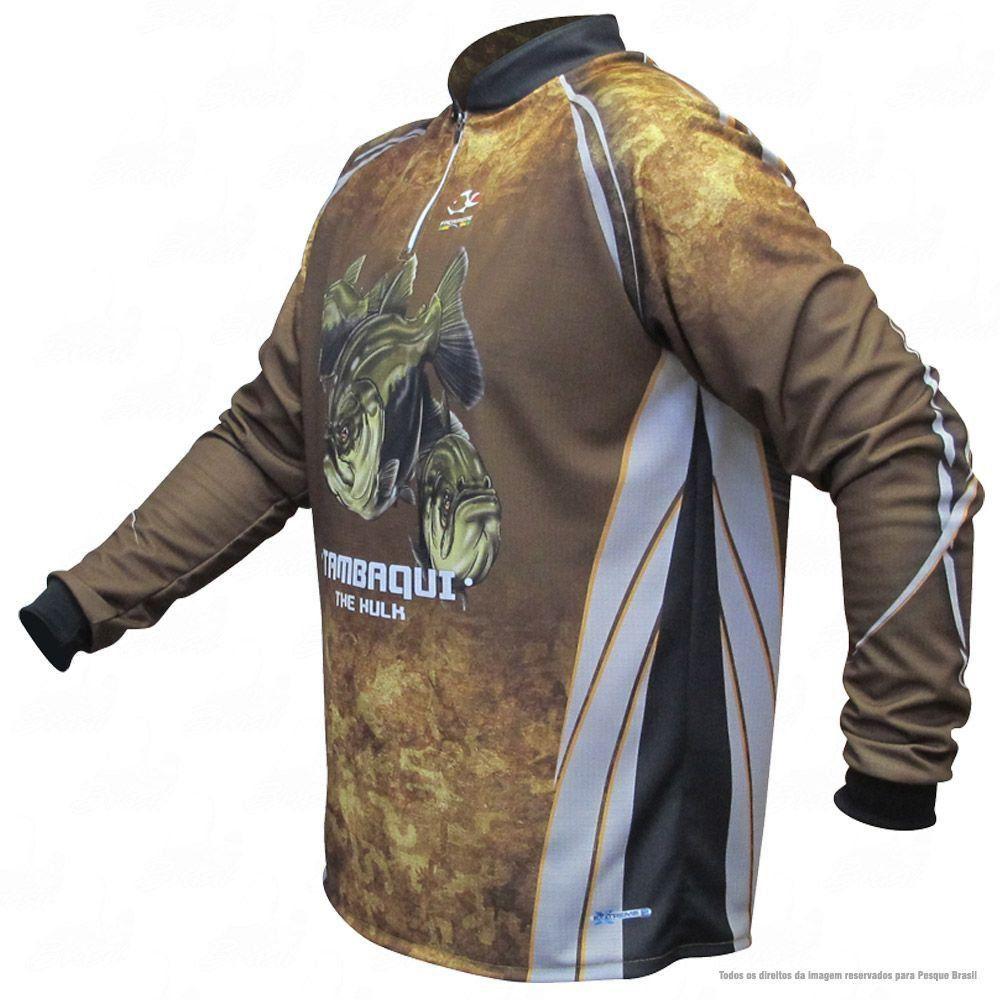 Camiseta de Pesca Shirts Tambaqui Faca na Rede Extreme Dry 2 com Fator de Proteção Solar UV 50 Tamanho XG