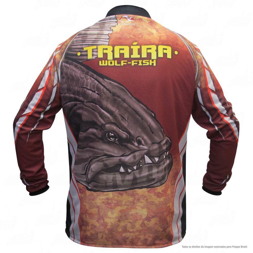 Camiseta de Pesca Shirts Traíra Escura Faca na Rede Extreme Dry 2 com Fator de Proteção Solar UV 50 Tamanho GG