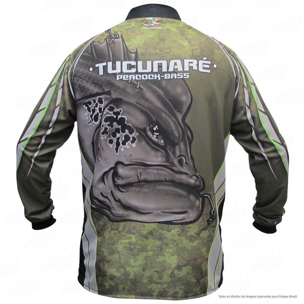 Camiseta de Pesca Shirts Tucunaré Faca na Rede Extreme Dry 2 com Fator de Proteção Solar UV 50 Tamanho P
