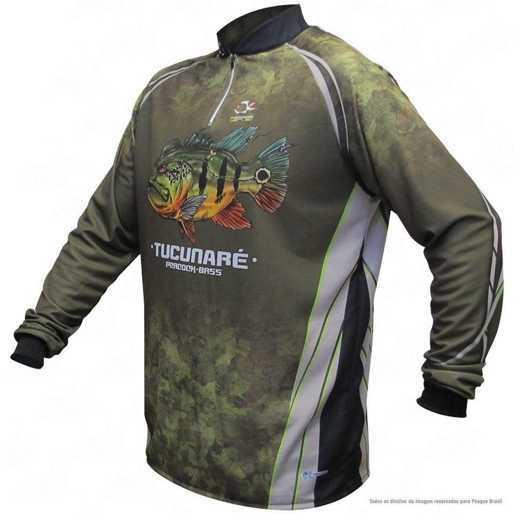 Camiseta de Pesca Shirts Tucunaré Faca na Rede Extreme Dry 2 com Fator de Proteção Solar UV 50 Tamanho G