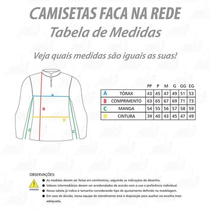 Camiseta de Pesca Shirts Tucunaré Feminina Faca na Rede Extreme Dry 2 com Fator de Proteção Solar UV 50 Tamanho M