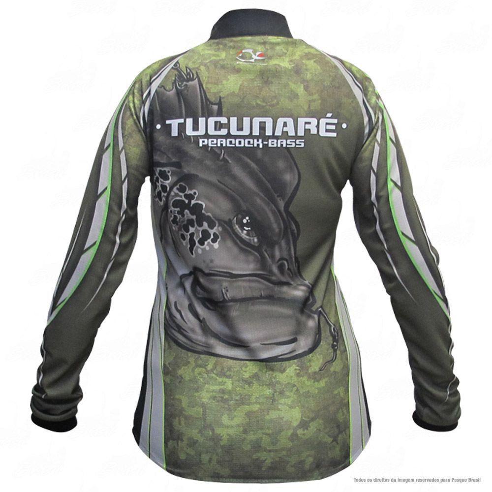 Camiseta de Pesca Shirts Tucunaré Feminina Faca na Rede Extreme Dry 2 com Fator de Proteção Solar UV 50 Tamanho G