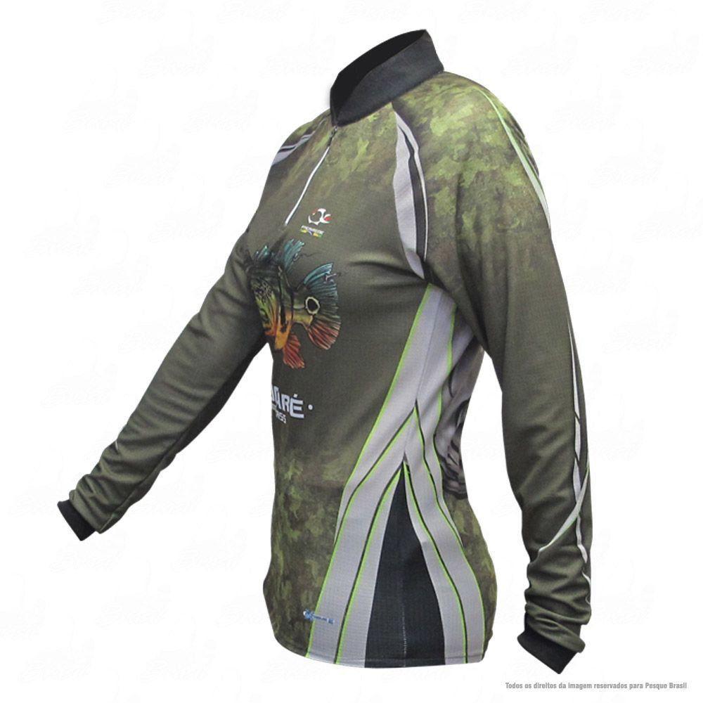 Camiseta de Pesca Shirts Tucunaré Feminina Faca na Rede Extreme Dry 2 com Fator de Proteção Solar UV 50 Tamanho XG