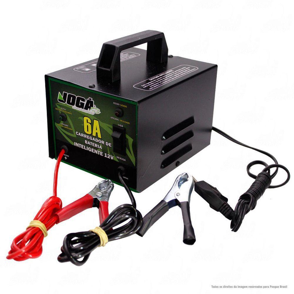 Carregador de Bateria Portátil Jogá 6 Amperes Hora 12V 110/220v