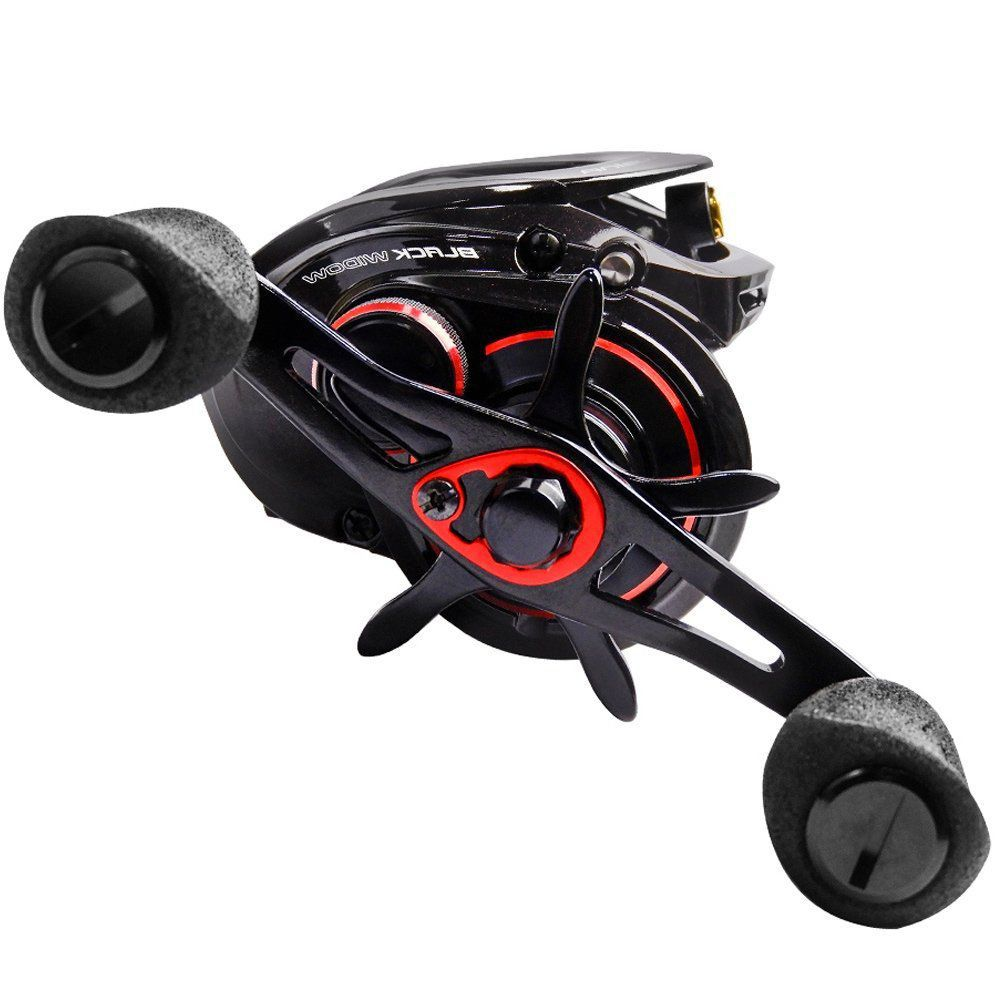 Carretilha de Pesca Nova Lubina Black Widow GTX 9.5 Marine Sports 9.5:1 Drag 7,5kg