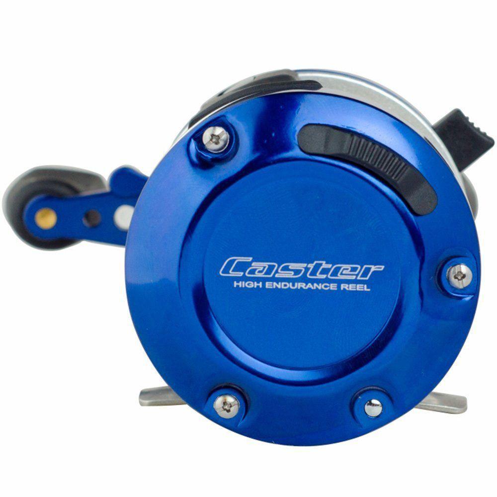 Carretilha Marine Sports Caster 400 3-BI Perfil Alto com Sinal Sonoro