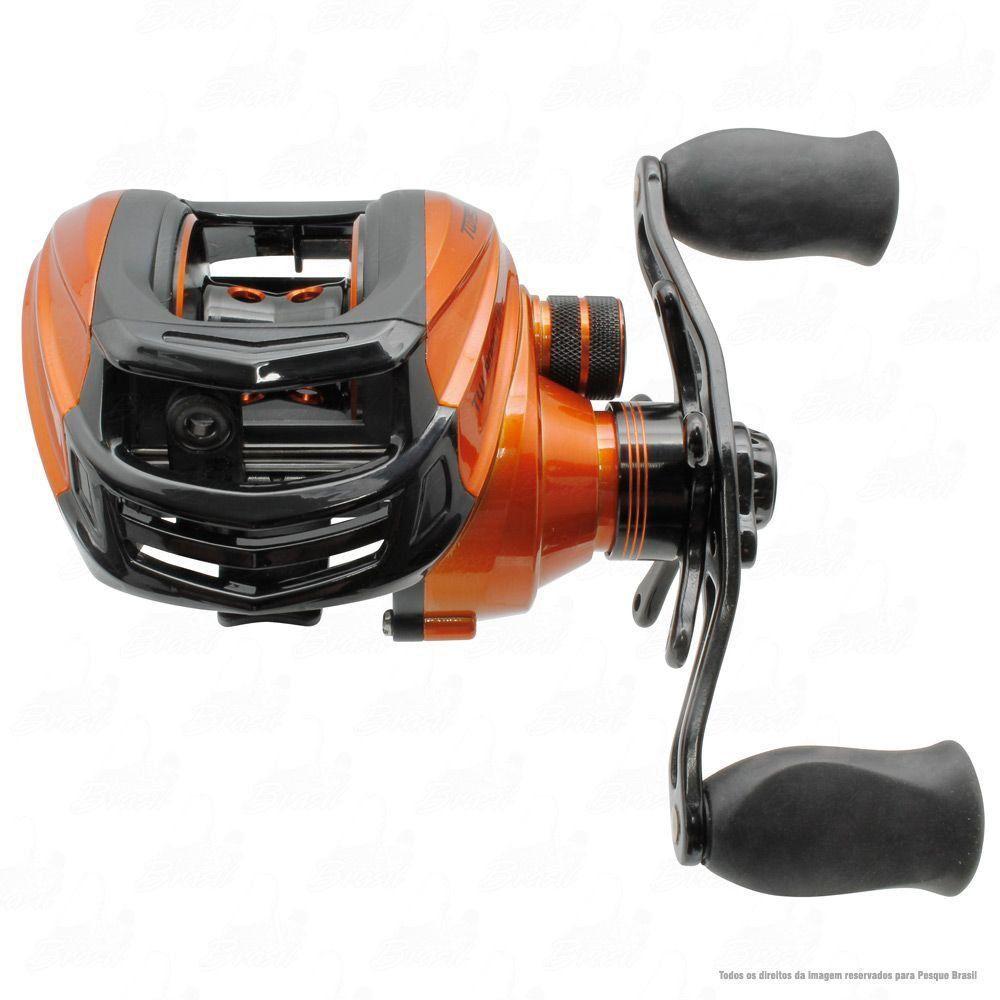 Carretilha Saint Plus Twister 8000 LH Esquerda Recolhimento 7.2:1 Peso 205g 8 Rolamentos Baitcast