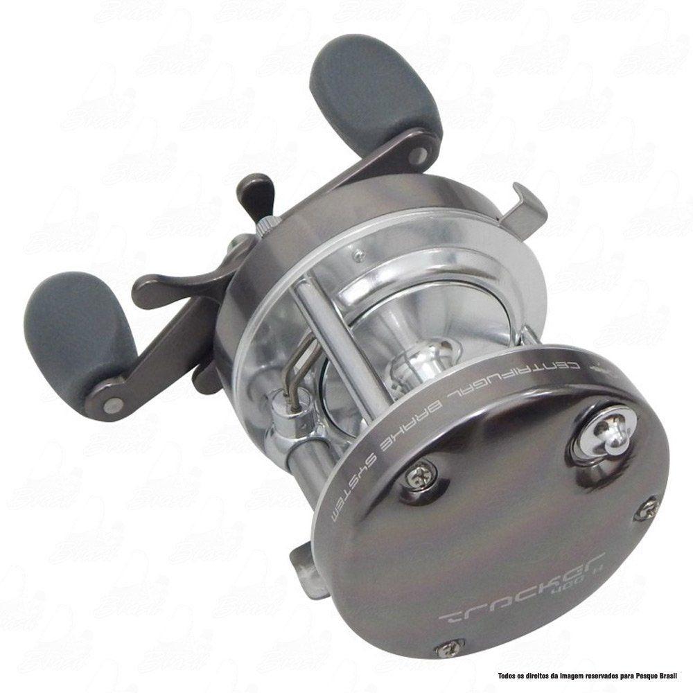 Carretilha Tracker 600 H Direita Saint Plus Perfil Alto 4.2:1 Drag 9,1kg 350g