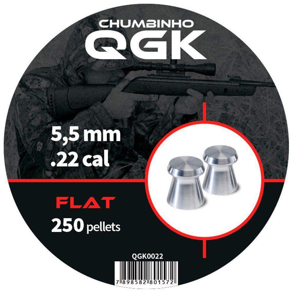 Chumbinho QGK Flat 5,5 mm c/ 250 unidades