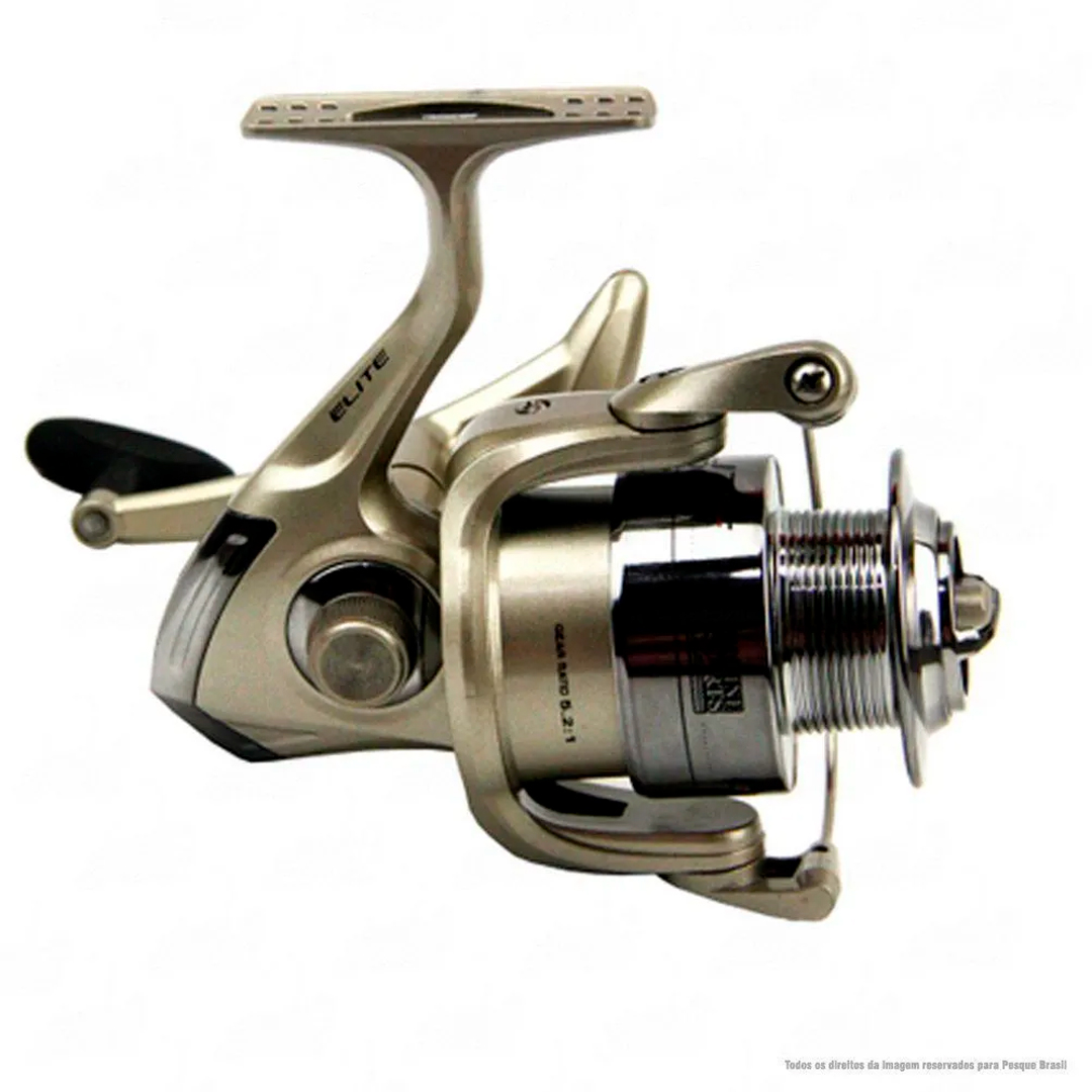 Conjunto de Pesca Vara Solara Shimano e Molinete Elite Marine Sports Com Linha Fiber Flex