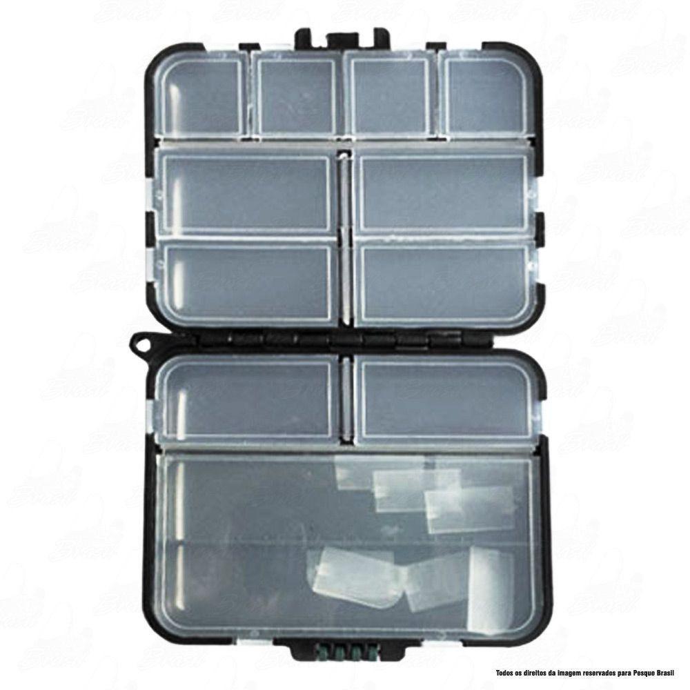 Estojo Albatroz HZ009 Para Iscas Tipo Fly, Anzóis e Chumbadas com Compartimentos Ajustáveis