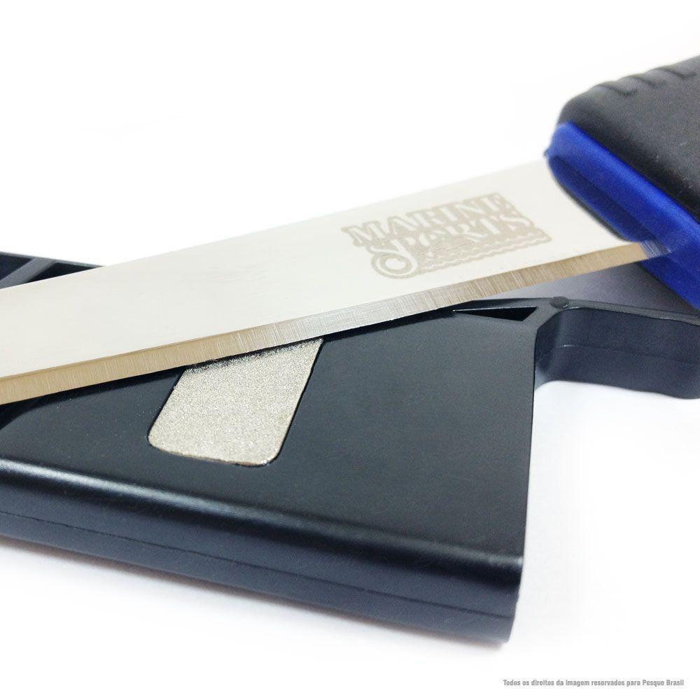 Faca Filetadeira Marine Sports 6 Fillet Knife MS08-00040 Com Afiador e Bainha