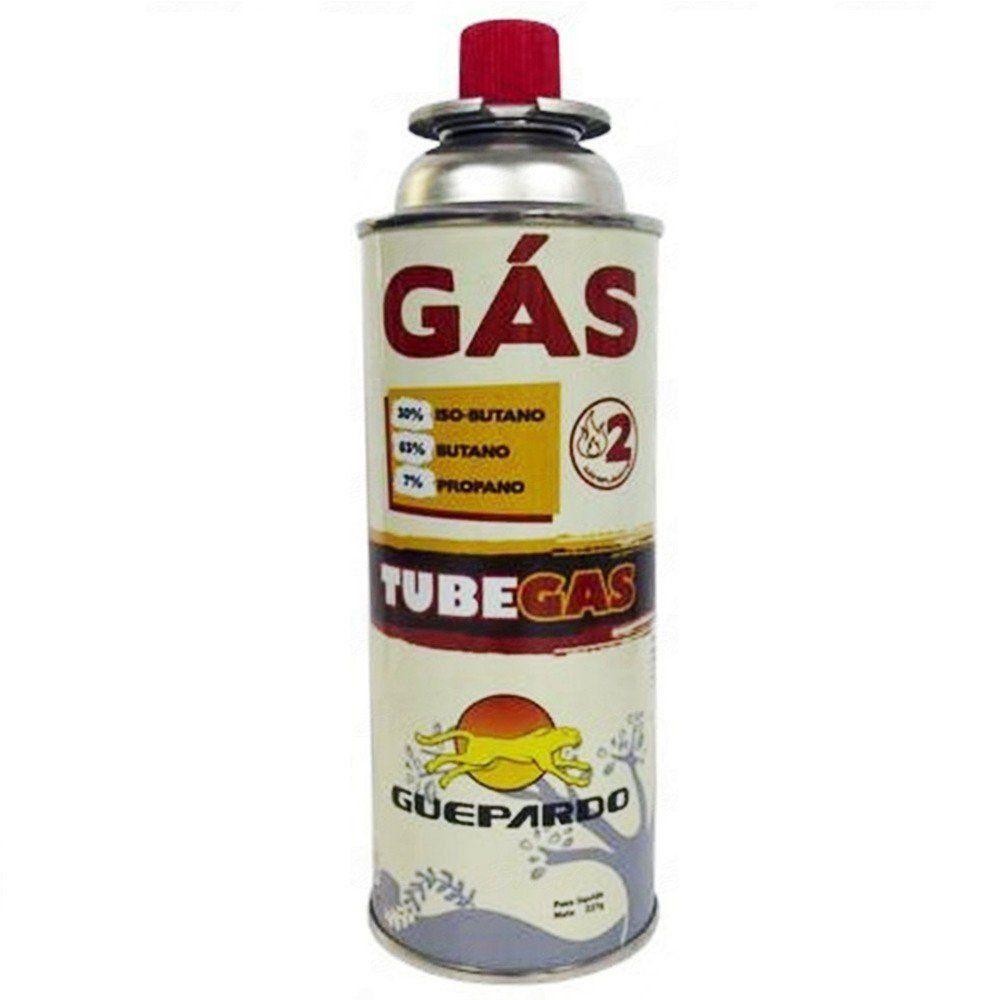 Gás TubeGas Guepardo Refil para Fogareiros e Maçarico Peso Líquido 227g
