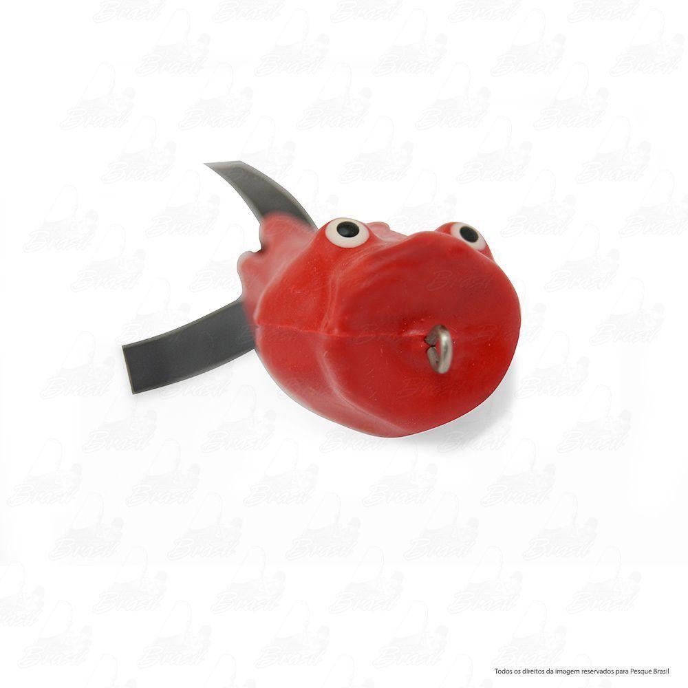 Isca Artificial Bad Popper Bad Line de Borracha com Anti Enrosco Cor BP03 Vermelho