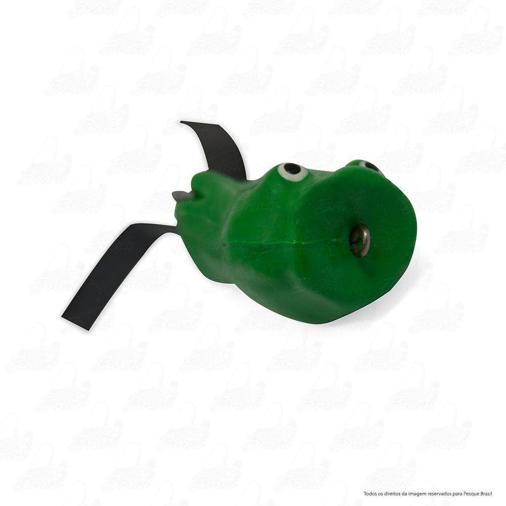 Isca Artificial Bad Popper Bad Line de Borracha com Anti Enrosco Cor BP05 Verde