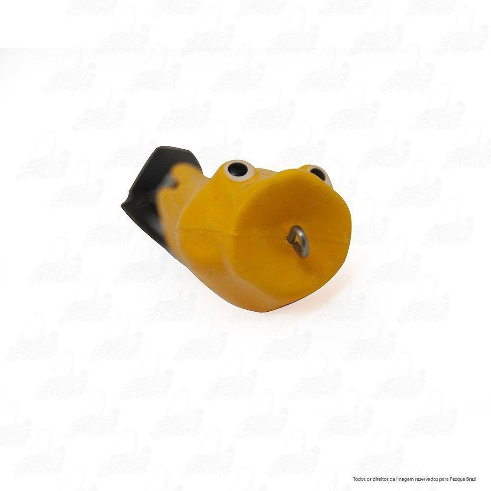 Isca Artificial Bad Popper Bad Line de Borracha com Anti Enrosco Cor BP08 Amarelo