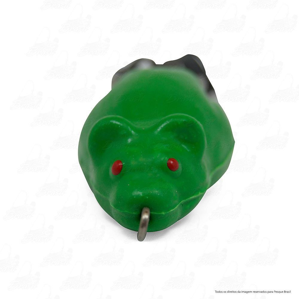Isca Artificial Bad Rat Bad Line de Borracha com Anti Enrosco Cor BR05 Verde