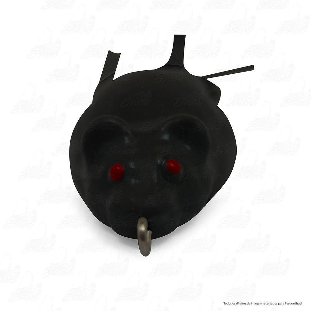 Isca Artificial Bad Rat Bad Line de Borracha com Anti Enrosco Cor BR06 Preto