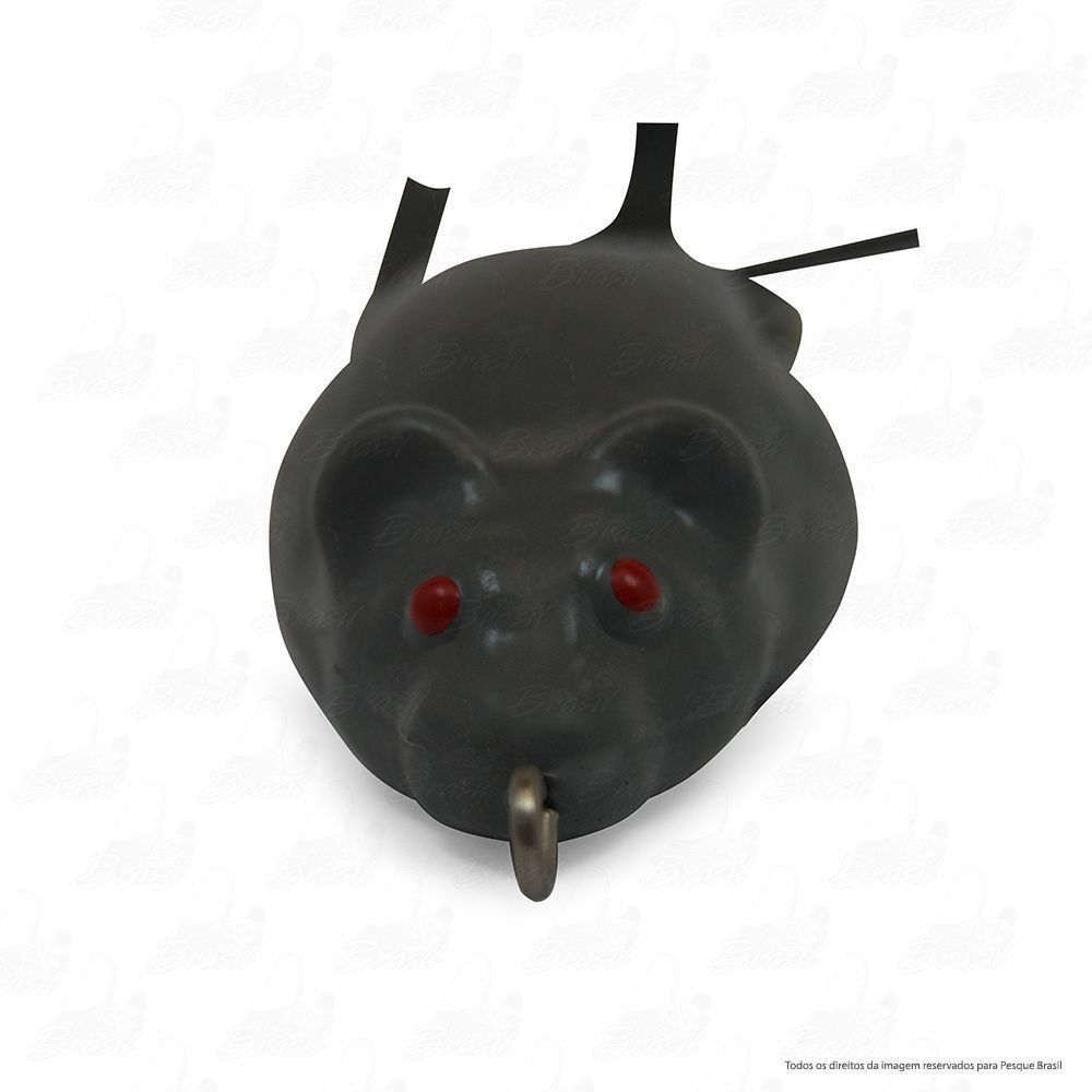 Isca Artificial Bad Rat Bad Line de Borracha com Anti Enrosco Cor BR07 Cinza