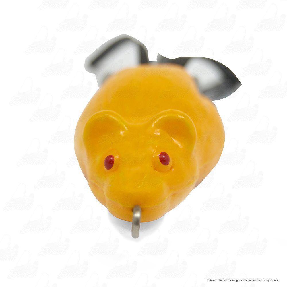 Isca Artificial Bad Rat Bad Line de Borracha com Anti Enrosco Cor BR08 Amarelo