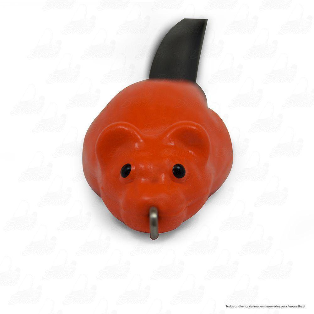 Isca Artificial Bad Rat Bad Line de Borracha com Anti Enrosco Cor BR09 Laranja