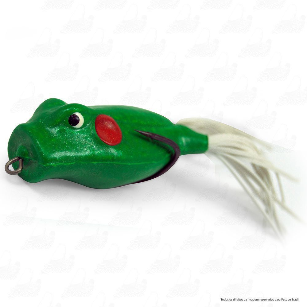 Isca Artificial Speed Popper Bad Line de Borracha com Anti Enrosco Cor SP05 Verde