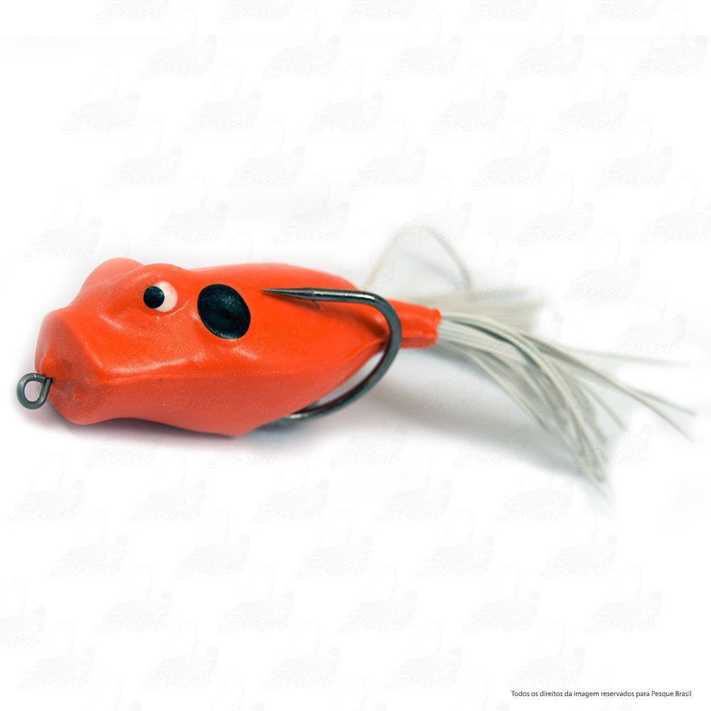Isca Artificial Speed Popper Bad Line de Borracha com Anti Enrosco Cor SP09 Laranja